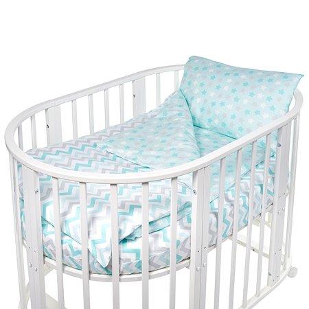 Комплект в круглую/овальную кроватку Sweet Baby Amato 4предмета Blue Голубой