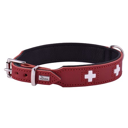 Ошейник для собак Hunter Swiss 65 Красный-Черный