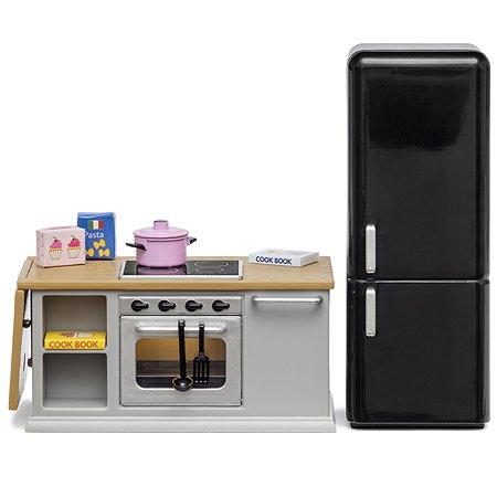Мебель для домика Lundby Кухонный остров+холодильник 9предметов LB_60201800