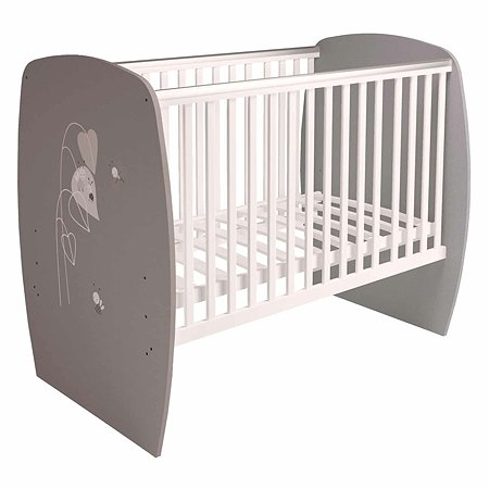 Кроватка детская Polini kids French 700 Amis Белый-Серый