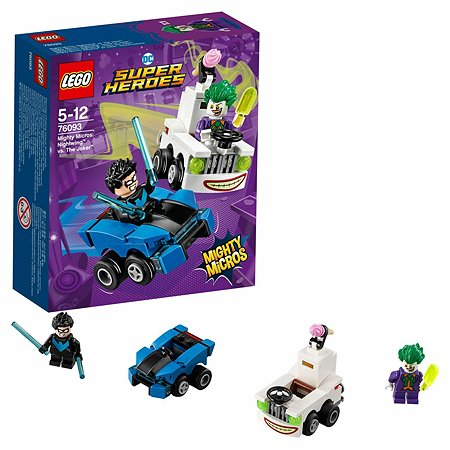 Конструктор LEGO Mighty Micros: Найтвинг против Джокера Super Heroes (76093)