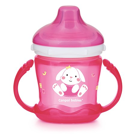 Чашка Canpol Babies Sweet fun 180мл Розовая 57/300_pin