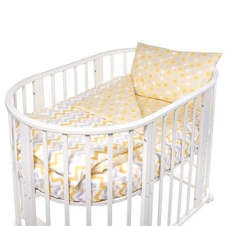 Комплект в круглую/овальную кроватку Sweet Baby Amato 4предмета Giallo Желтый