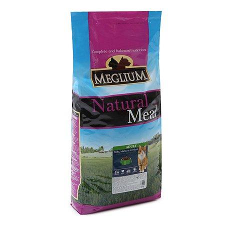 Корм сухой для кошек Meglium Adult 15кг говядина-курица-овощи