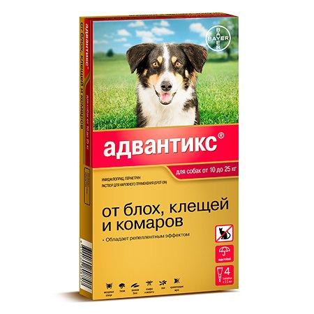 Препарат инсектоакарицидный для собак BAYER Адвантикс 2.5мл 4пипетки