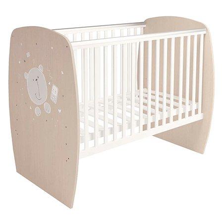 Кроватка детская Polini kids French 700 Teddy Белый-Дуб