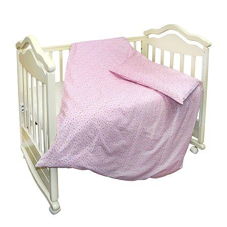 Комплект постельного белья L'Abeille Полянка 2предмета Розовый 2906