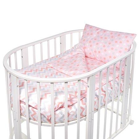 Комплект в круглую/овальную кроватку Sweet Baby Amato 4предмета Rosa Розовый