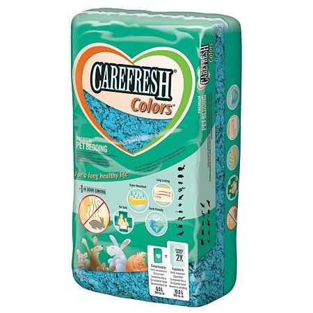 Наполнитель для мелких домашних животных CareFresh color бумажный впитывающий Голубой 1.135кг