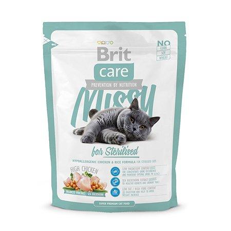 Корм сухой для кошек Brit Care 400г стерилизованных профилактика МКБ