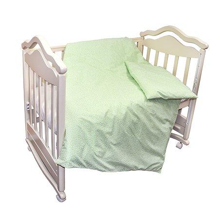 Комплект постельного белья L'Abeille Полянка 2предмета Зеленый 2904