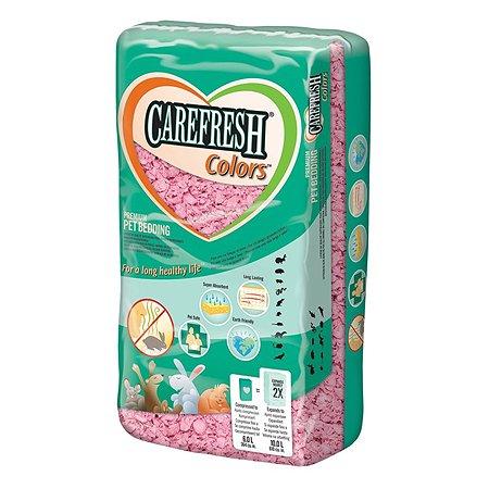 Наполнитель для мелких домашних животных CareFresh color бумажный впитывающий Розовый 1.435 кг