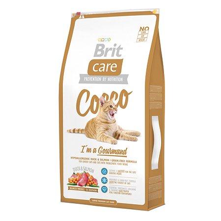 Корм сухой для кошек Brit Care 7кг беззерновой для гурманов