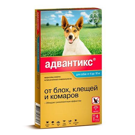 Препарат инсектоакарицидный для собак BAYER Адвантикс 1мл 4пипетки