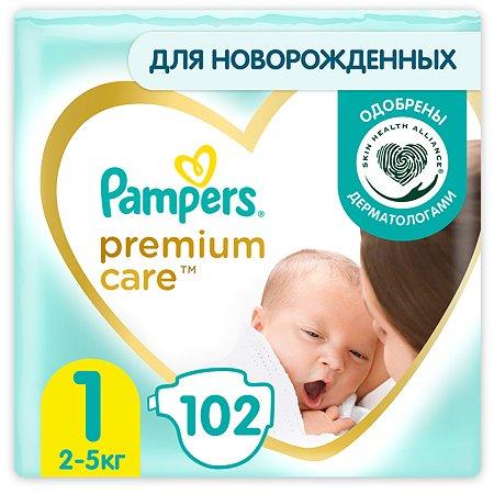 Подгузники Pampers Premium Care Newborn 1 2-5кг 102шт