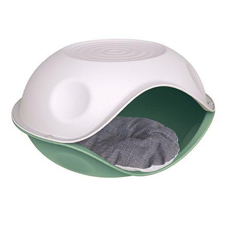 Лежанка для животных Lilli Pet Duck Pillow с подушкой М Зеленый 20-6210