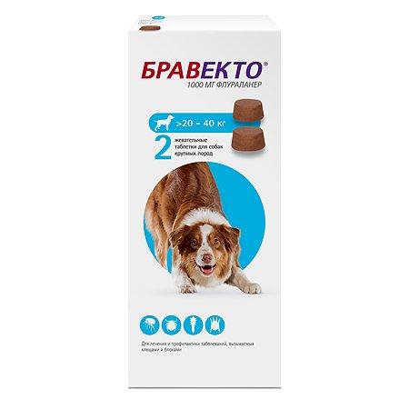 Препарат инсектоакарицидный для собак MSD Бравекто 1000мг №2