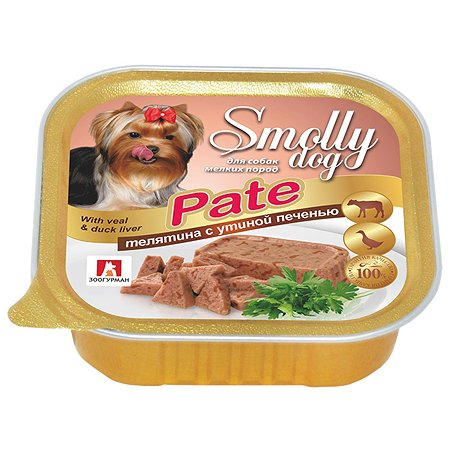 Корм для собак Зоогурман Смолли Дог телятина с утиной печенью патэ д/с ламистер 100 гр
