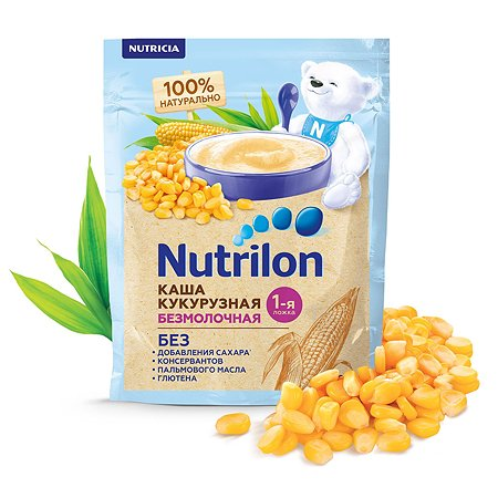 Каша безмолочная Nutrilon кукурузная 180г с 5месяцев