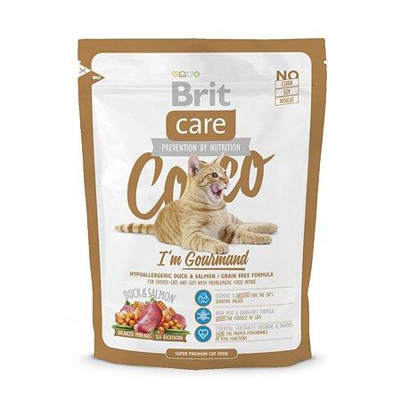 Корм сухой для кошек Brit Care 400г беззерновой для гурманов