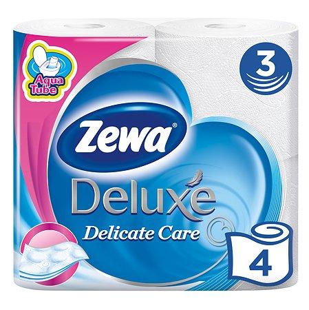 Туалетная бумага Zewa Deluxe 3слоя 4рулона Белая