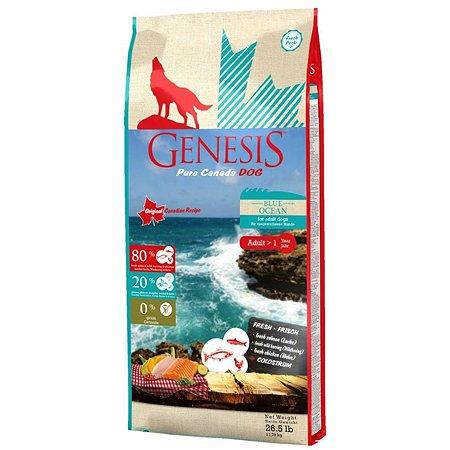 Корм для собак Genesis Pure Canada Blue Ocean Adult с лососем сельдью и курицей 11.79кг