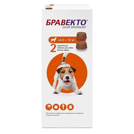 Препарат инсектоакарицидный для собак MSD Бравекто 250мг №2