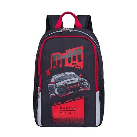 Рюкзак Grizzly Дрифт для мальчиков Черно-красный