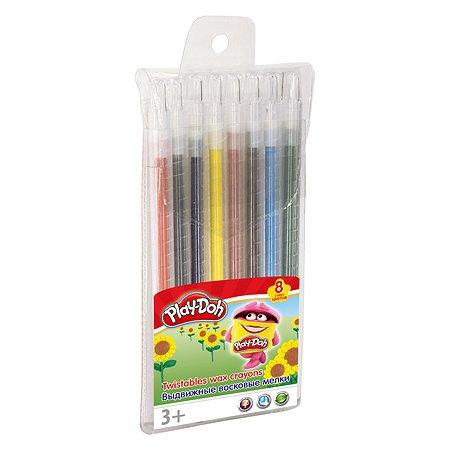 Набор восковых мелков Kinderline Play Doh 8 цв.