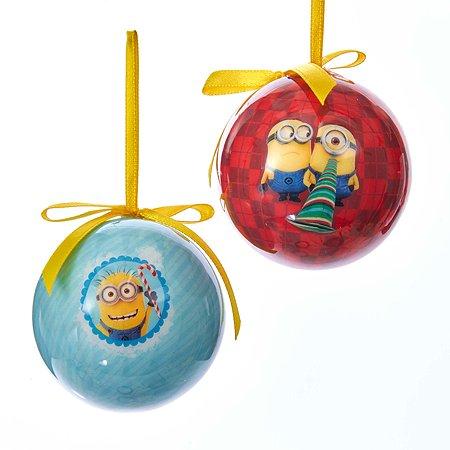 Шар новогодний Despicable me Миньоны диаметр 6 см 2шт в ассортименте