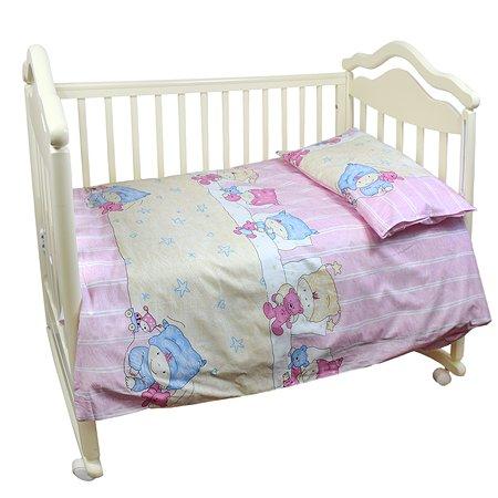 Комплект постельного белья L'Abeille Детки 3предмета Розовый 2911