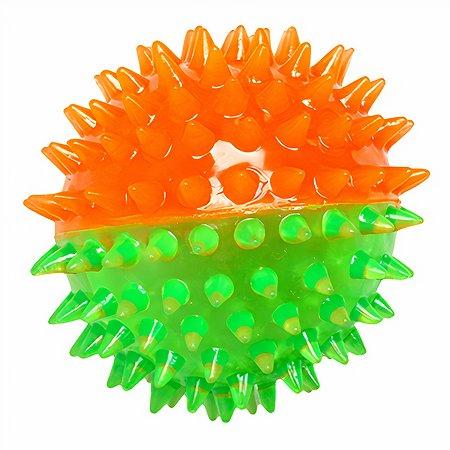 Игрушка для собак Ziver Мяч игольчатый Зелено-оранжевый
