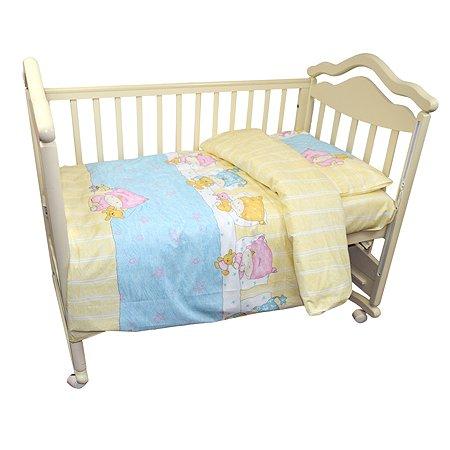 Комплект постельного белья L'Abeille Детки 3предмета Голубой 2912