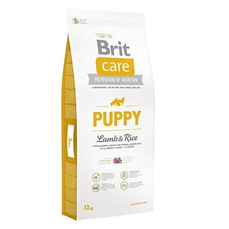 Корм для щенков Brit Care всех пород с ягненком и рисом сухой 12кг