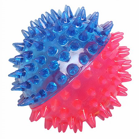 Игрушка для собак Ziver Мяч игольчатый Розово-голубой