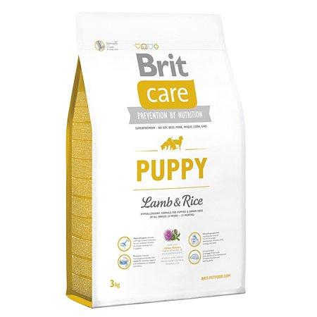 Корм для щенков Brit Care всех пород с ягненком и рисом сухой 3кг