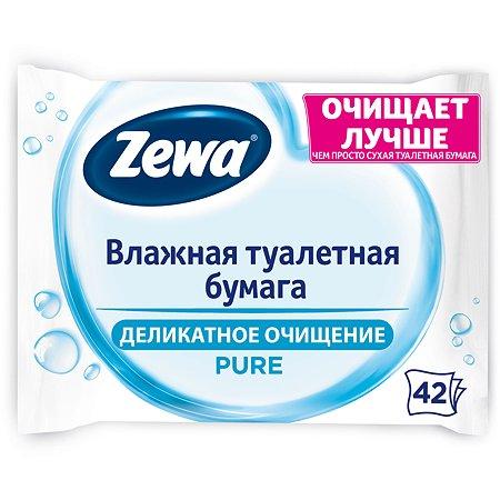 Туалетная бумага влажная Zewa Pure 42шт 6788