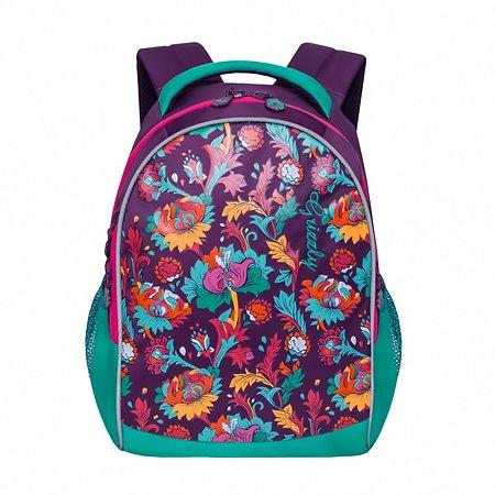 Рюкзак Grizzly Цветы для девочек Фиолетовый