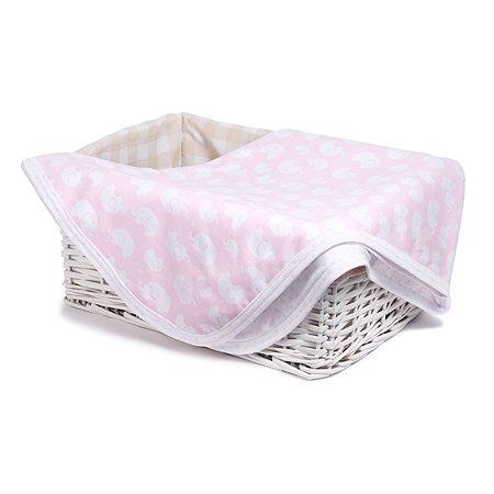 Плед Sweet Baby Tenero 80*100 Розовый-Белый