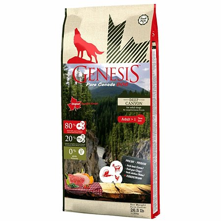 Корм для собак Genesis Pure Canada Deep Canyon Adult с курицей ягненком и козой 11.79кг