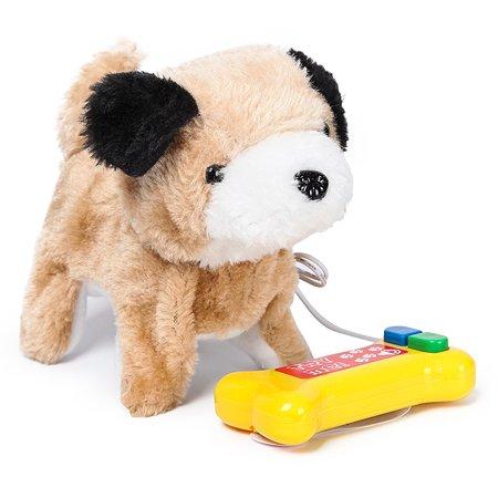 Собачка интерактивная Laffi Коричневая с черным ухом YS930861
