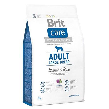 Корм для щенков Brit Care крупных пород с ягненком и рисом сухой 3кг