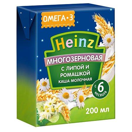 Кашка молочная Heinz с Омега 3 мультизерновая липа-ромашка 3 200мл с 6месяцев