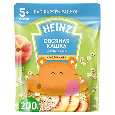 Каша молочная Heinz овсяная с персиком 200 г с 5 месяцев