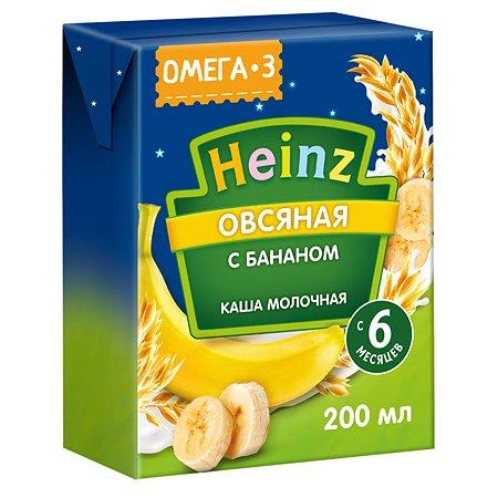 Кашка молочная Heinz с Омега 3 овсяная с бананом 200мл с 6месяцев