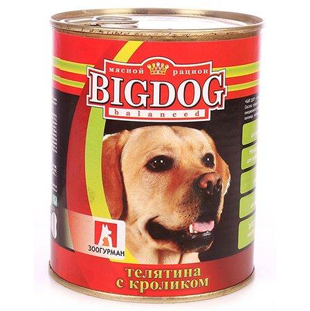 Корм для собак Зоогурман Big Dog телятина с кроликом 850 гр ж/б