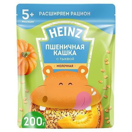 Каша молочная Heinz пшеничная с тыквой 200 г с 5 месяцев
