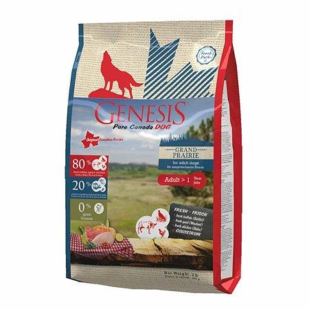Корм для собак Genesis Pure Canada Grand Prairie Adult с курицей буйволом и перепелками 907г