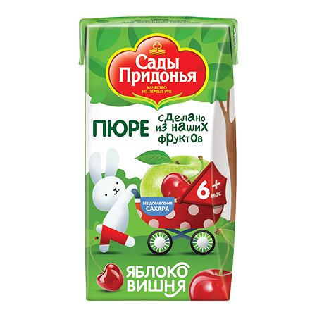 Пюре Сады Придонья яблоко-вишня 125г с 6месяцев