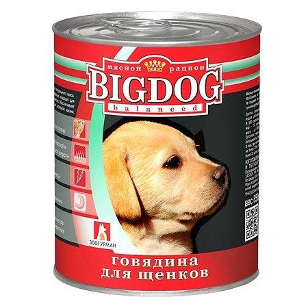 Корм для собак Зоогурман Big Dog Щенки 850 гр ж/б
